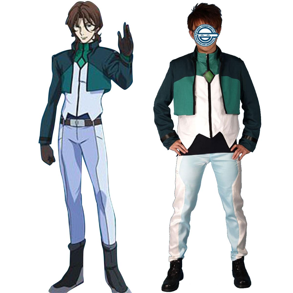 Kläder Gundam 00 Lockon Stratus Celestial Being Cosplay Karneval Kläder
