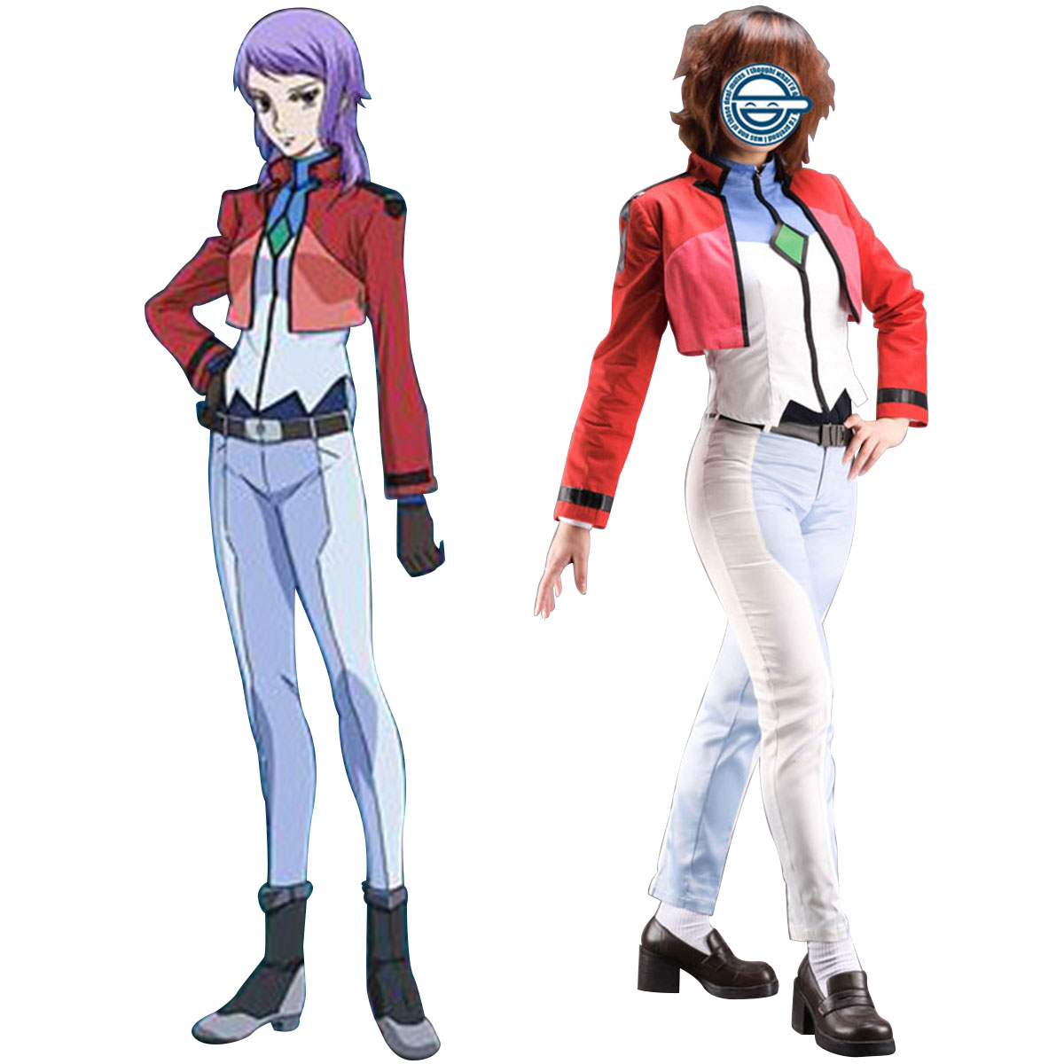 Kläder Gundam 00 Ainiu Celestial Being Cosplay Karneval Kläder