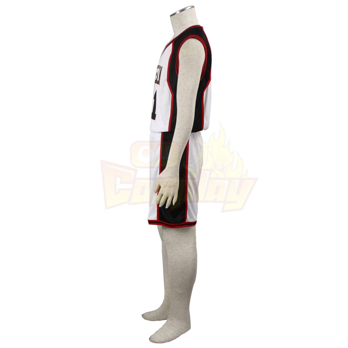 Deluxe Kuroko no Basket Kuroko Tetsuya1ST Seirin White No.11 Cosplay Costumes
