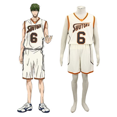 Fantasias Kuroko's Basketball Midorima Shintaro 1 Shutoku Light Amarelo No.6 Cosplay
