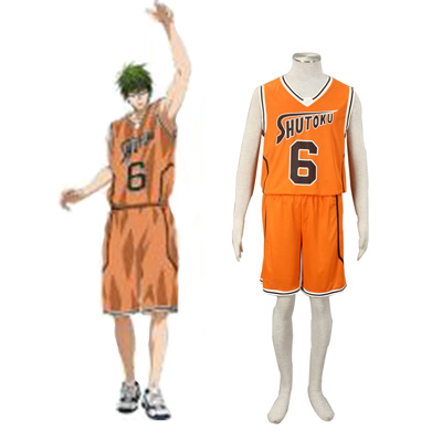 Kuroko no Basket Midorima Shintaro 3 Shutoku Orange No.6 Cosplay Karneval Kläder