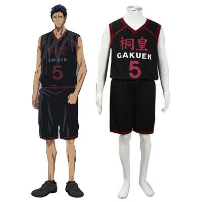 Lusso Kuroko no Basket Aomine Daiki 1 Touou Academy Nero No.5 Cosplay