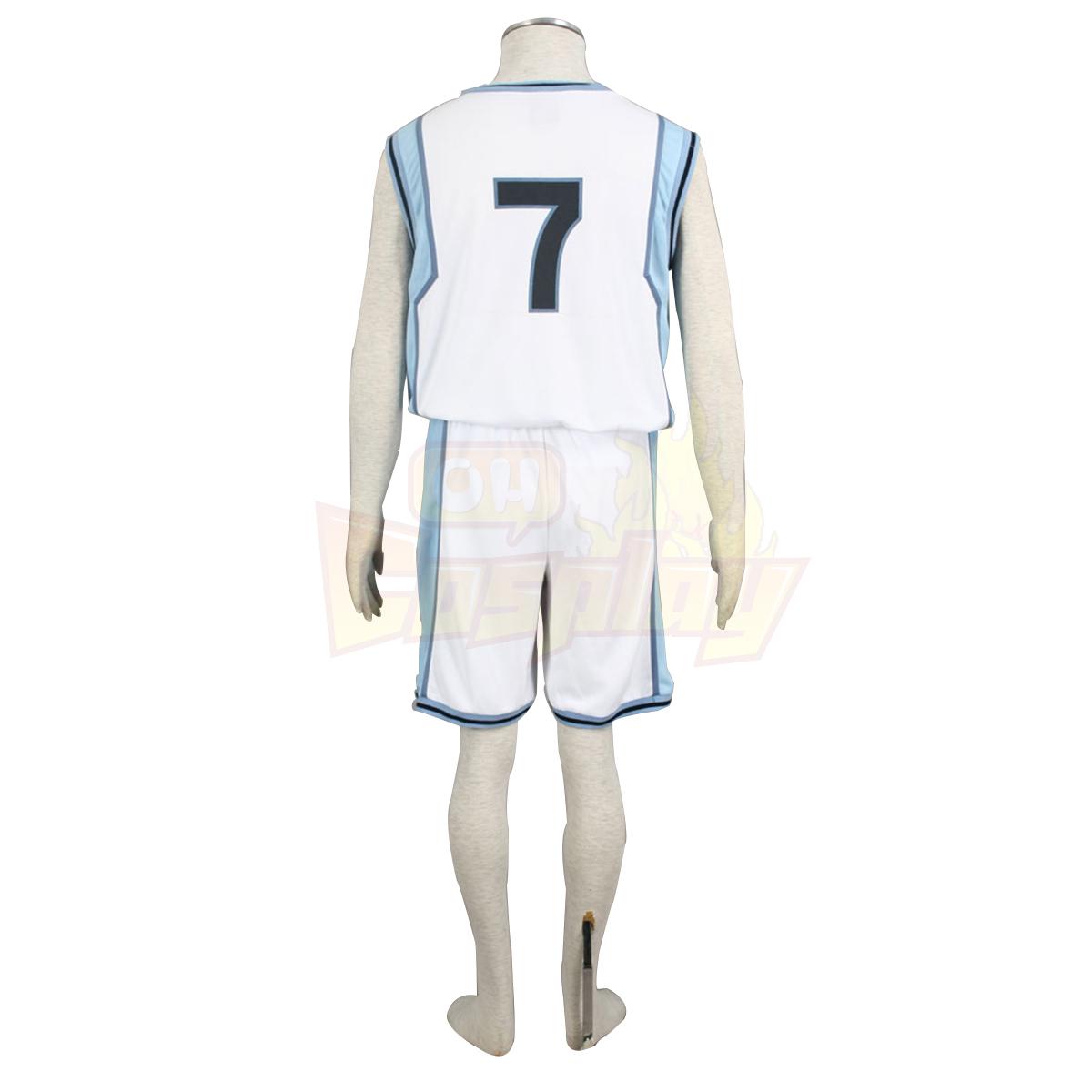 호화로운 쿠로코의 농구 Midorima Shintaro 2 빛 흰색 No.7 코스프레 의상