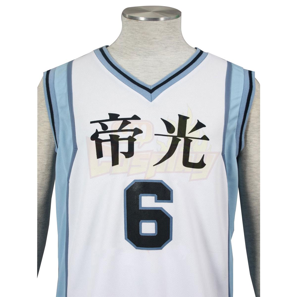 Deluxe Kuroko no Basket Aomine Daiki2ND Light White No.6 Cosplay Costumes