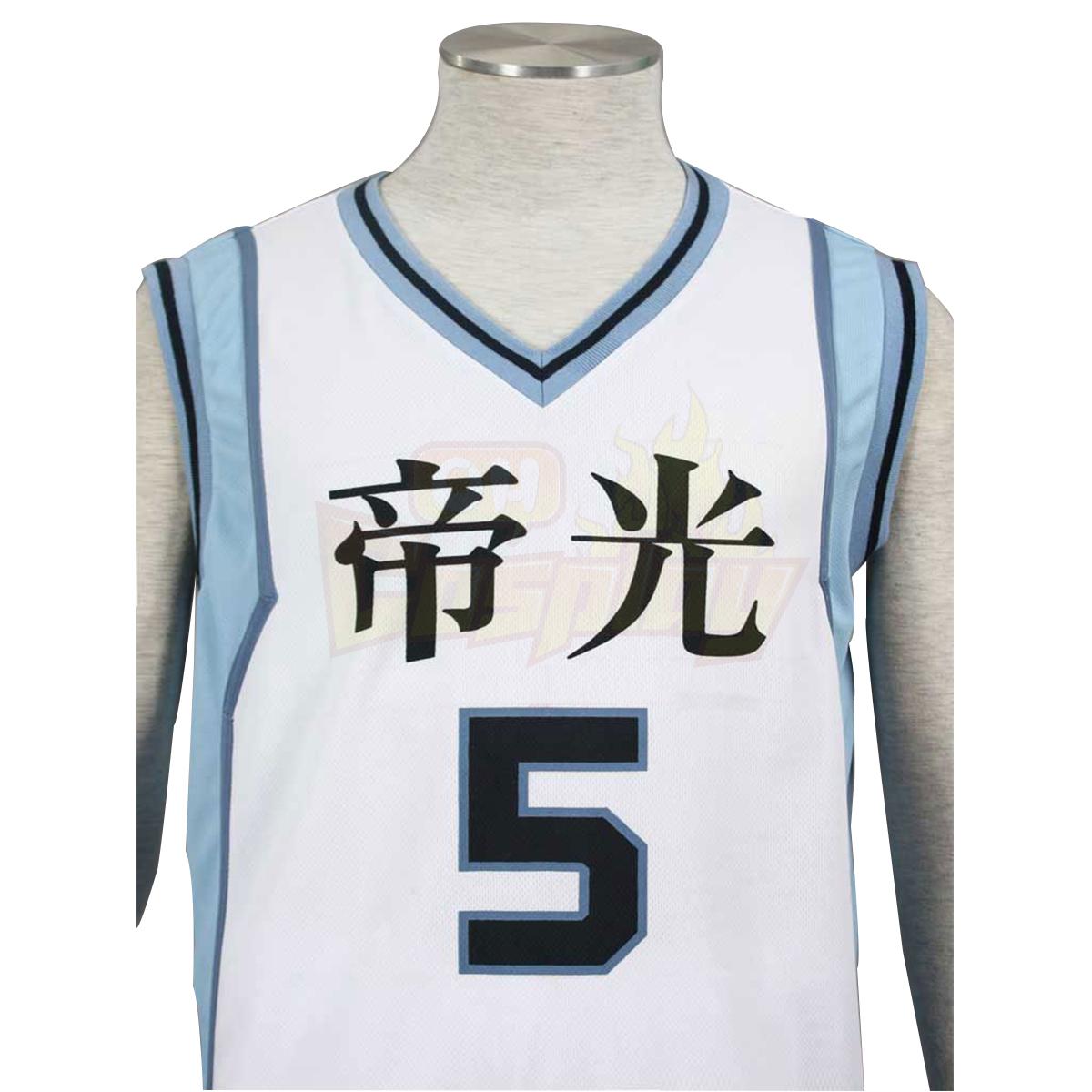 호화로운 쿠로코의 농구 Murasakibara Atsushi1 빛 흰색 No.5 코스프레