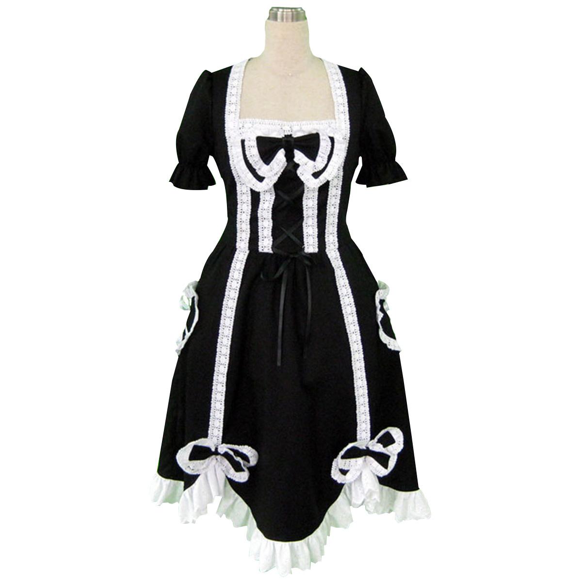 luxus lolita kultur mit kurzen rmeln lange kleider 2 faschingskost me cosplay kost. Black Bedroom Furniture Sets. Home Design Ideas