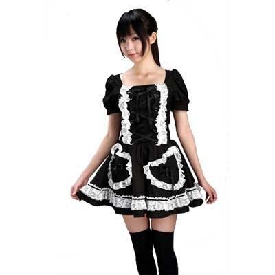 Luxury Canada Lolita Culture Lantern Short Sleeves Dresses Cosplay Costumes