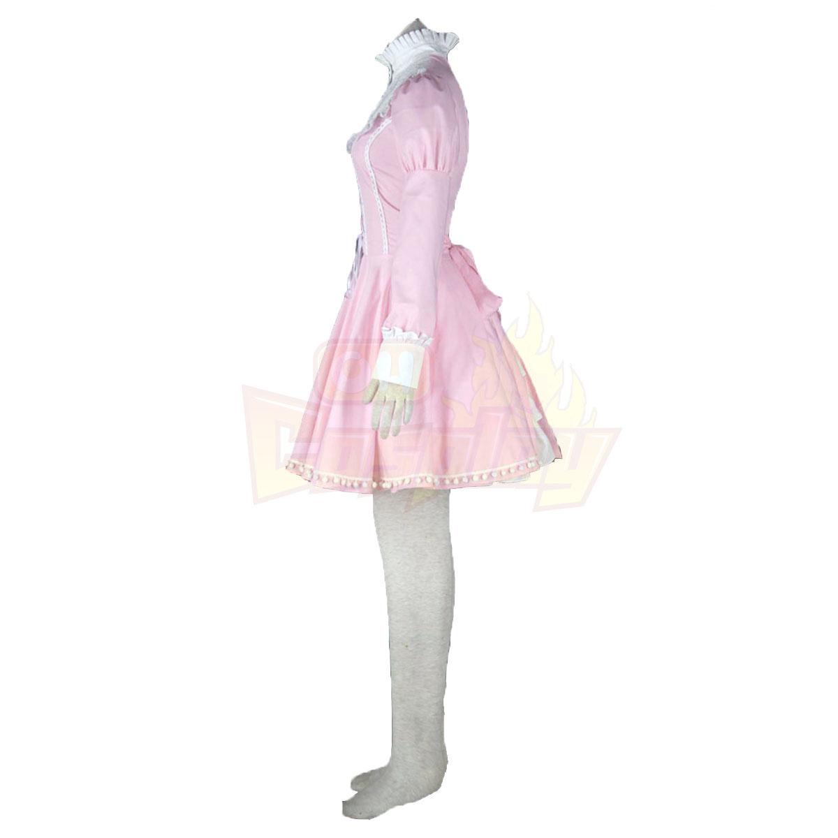 لوليتا فاخرة الثقافة الوردي ضجيج فساتين قصيرة كوزبلاي ازياء