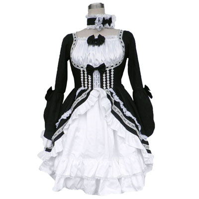 Deluxe Lolita Culture Tire Sautoir Long Dresses Cosplay Costumes