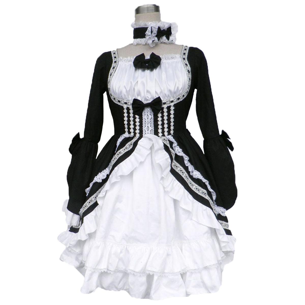 호화로운 로리타 문화 타이어 Sautoir 긴 드레스 코스프레 의상