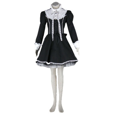 Lolita Culture Bustle Hat Bow Short Dresses Cosplay Costumes UK