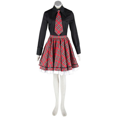 Deluxe Lolita Culture Black and Red Middle Dresses Cosplay Costumes
