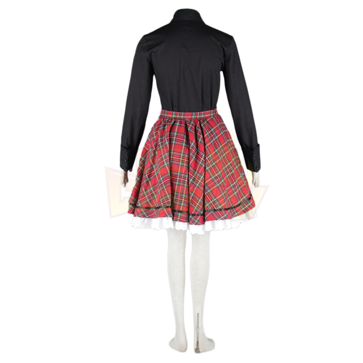De lujo Disfraces de Lolita Cultura Black and Red Middle Vestidos Cosplay