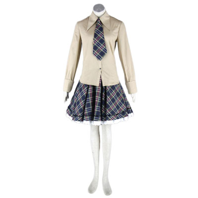 Deluxe Lolita Culture Beige Skirt Blue Middle Dresses Cosplay Costumes
