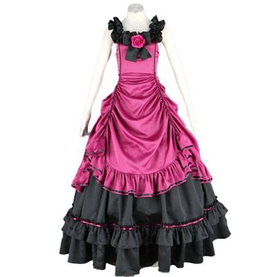 Роскошный Лолита без рукавов Культура суматохи Длинные платья Косплей Cos Костюмы