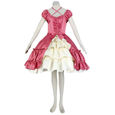 Deluxe Lolita Culture Short Sleevess Middle Dresses Panniers Cosplay Costumes