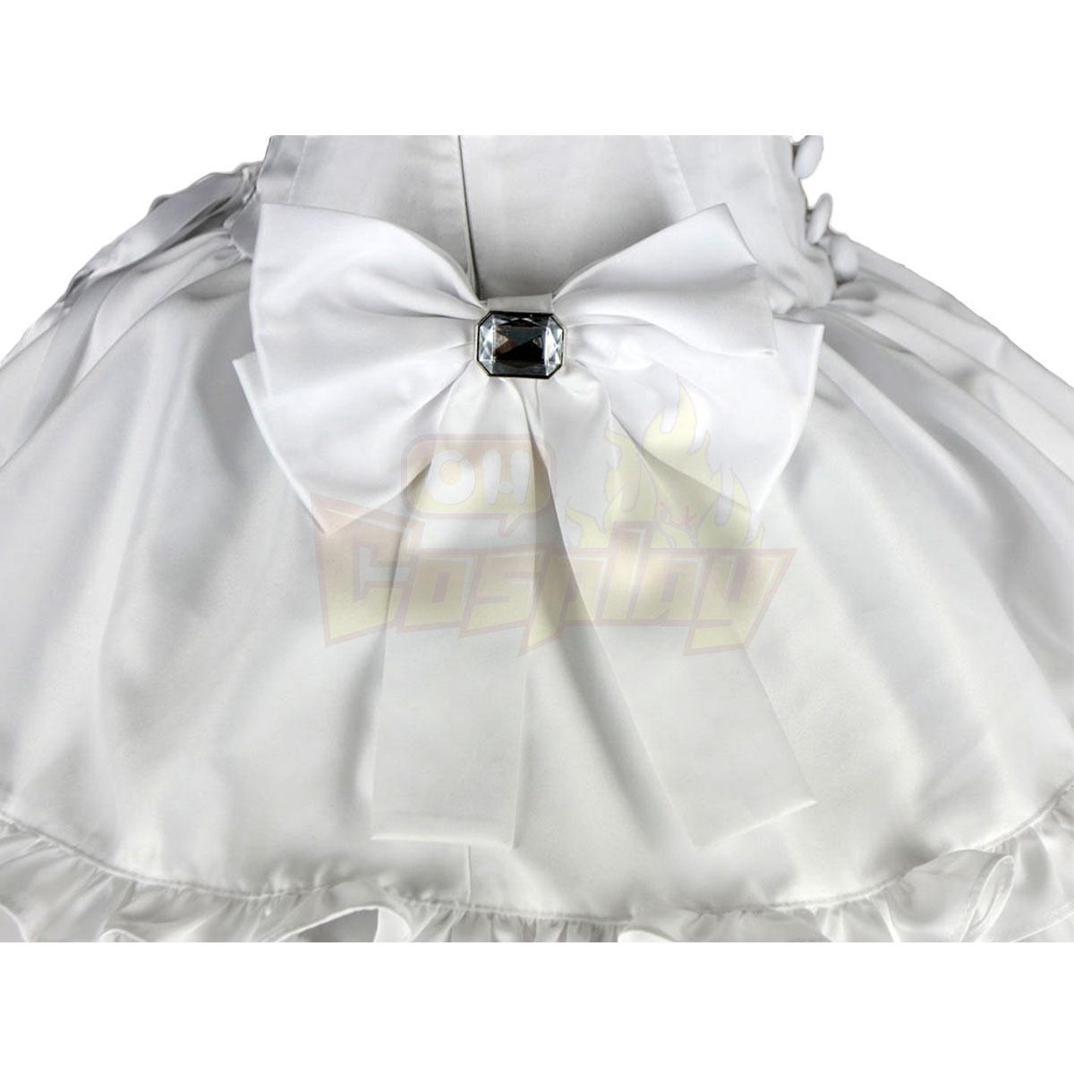 لوليتا فاخرة الثقافة حزام الأبيض الانحناء نصف فساتين كوزبلاي ازياء