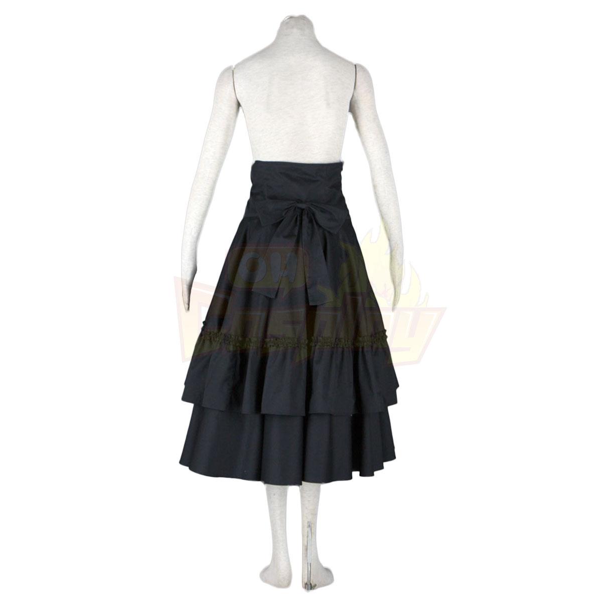لوليتا فاخرة الثقافة حزام الأسود الانحناء فساتين طويلة كوزبلاي ازياء