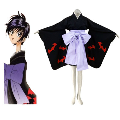 Kamiyomi mikado tsuki 1ST Black kimono Cosplay Halloween Costumes Deluxe Edition Online Store