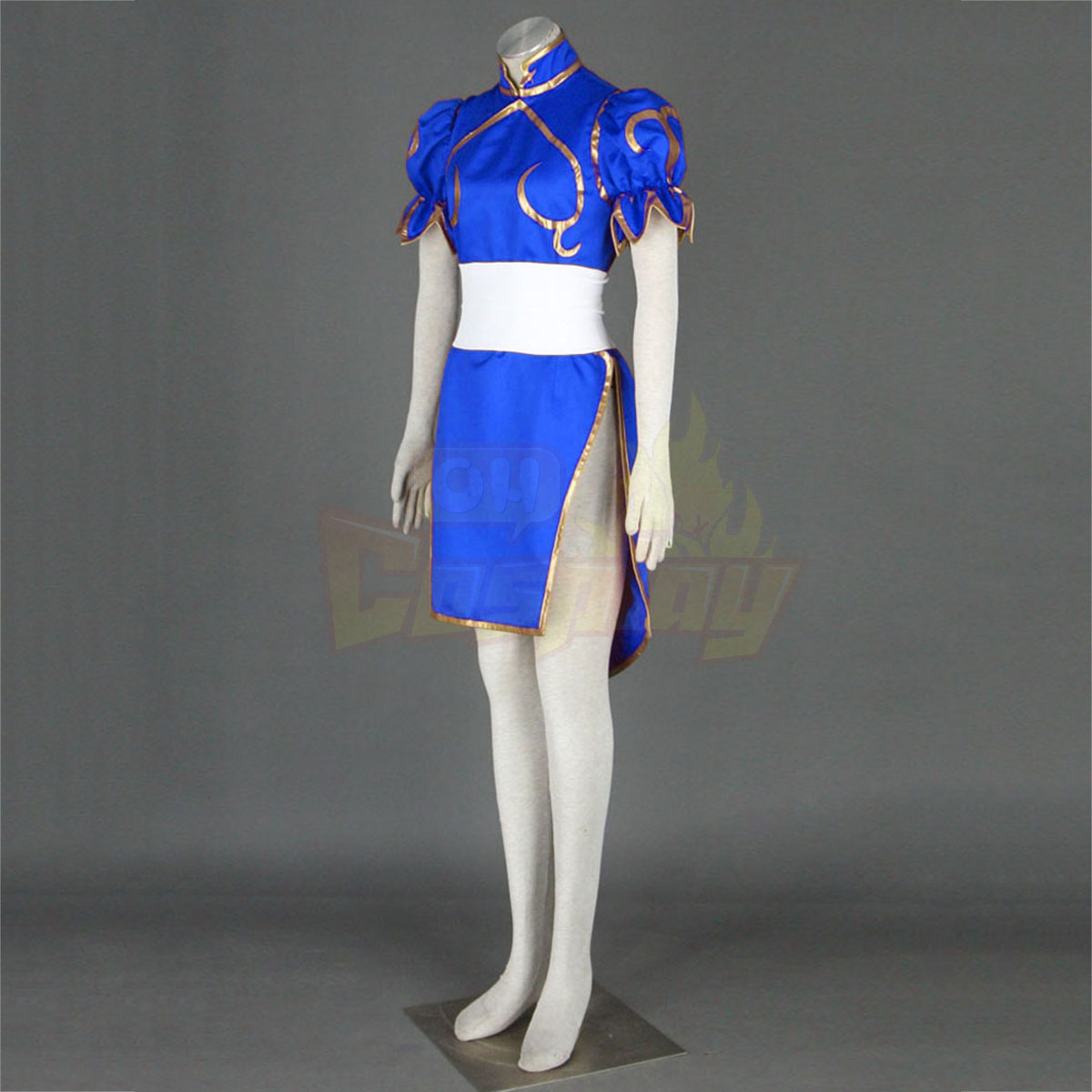 Street Fighter Chun-Li 1ST Blue Cosplay Costumes Deluxe Edition