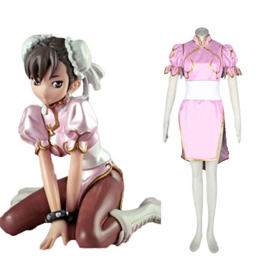 Street Fighter Chun- Li 3RD Pink Cosplay Costumes Deluxe Edition