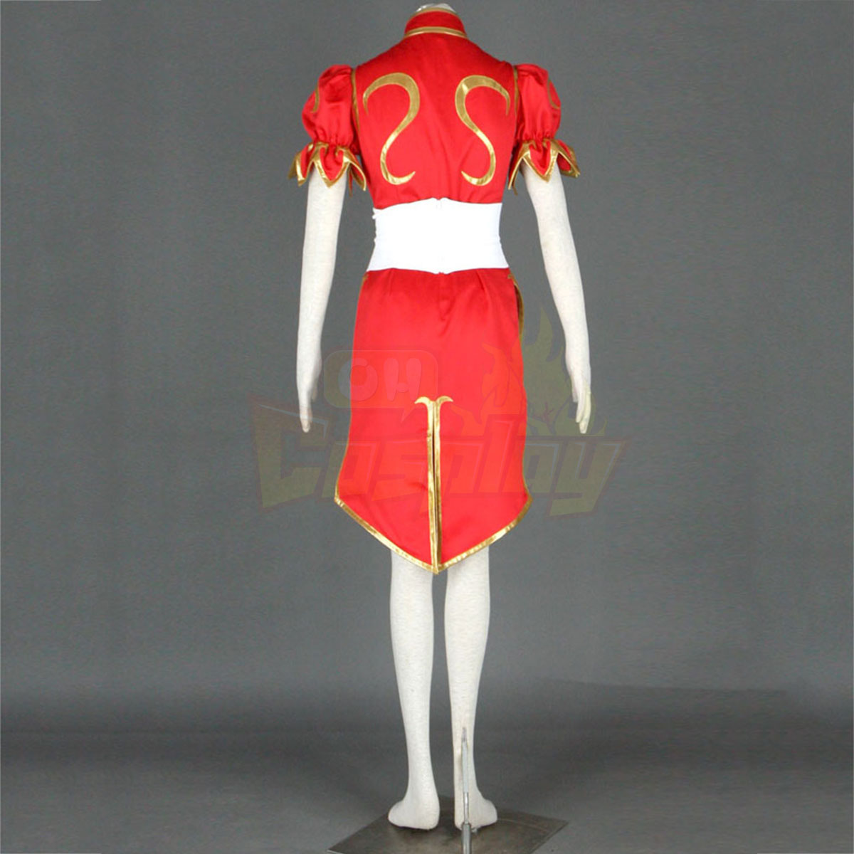 Street Fighter Chun-Li 4TH Red Cosplay Costumes Deluxe Edition