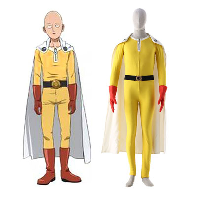 One Punch-man Saitama 1ST Cosplay Costumes Deluxe Edition