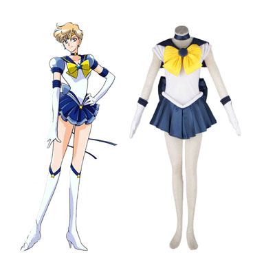 Sailor Moon Tenoh Haruka 1ST Cosplay Costumes Deluxe Edition