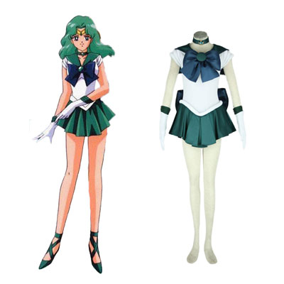 Sailor Moon Kaiou Michiru 1ST Cosplay Costumes Deluxe Edition
