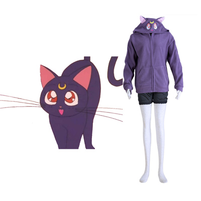 Sailor Moon Black Cat Luna Cosplay Costumes Deluxe Edition