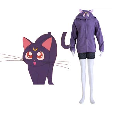 Sailor Moon Black Cat Luna Cosplay Costumes Deluxe Edition