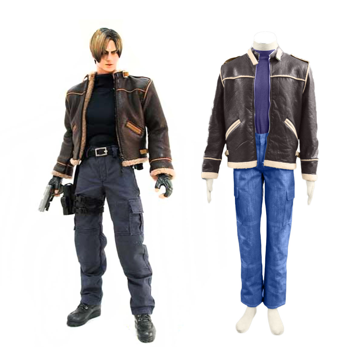 Resident Evil 4 Leon S Kennedy Cosplay Costume Deluxe Edition