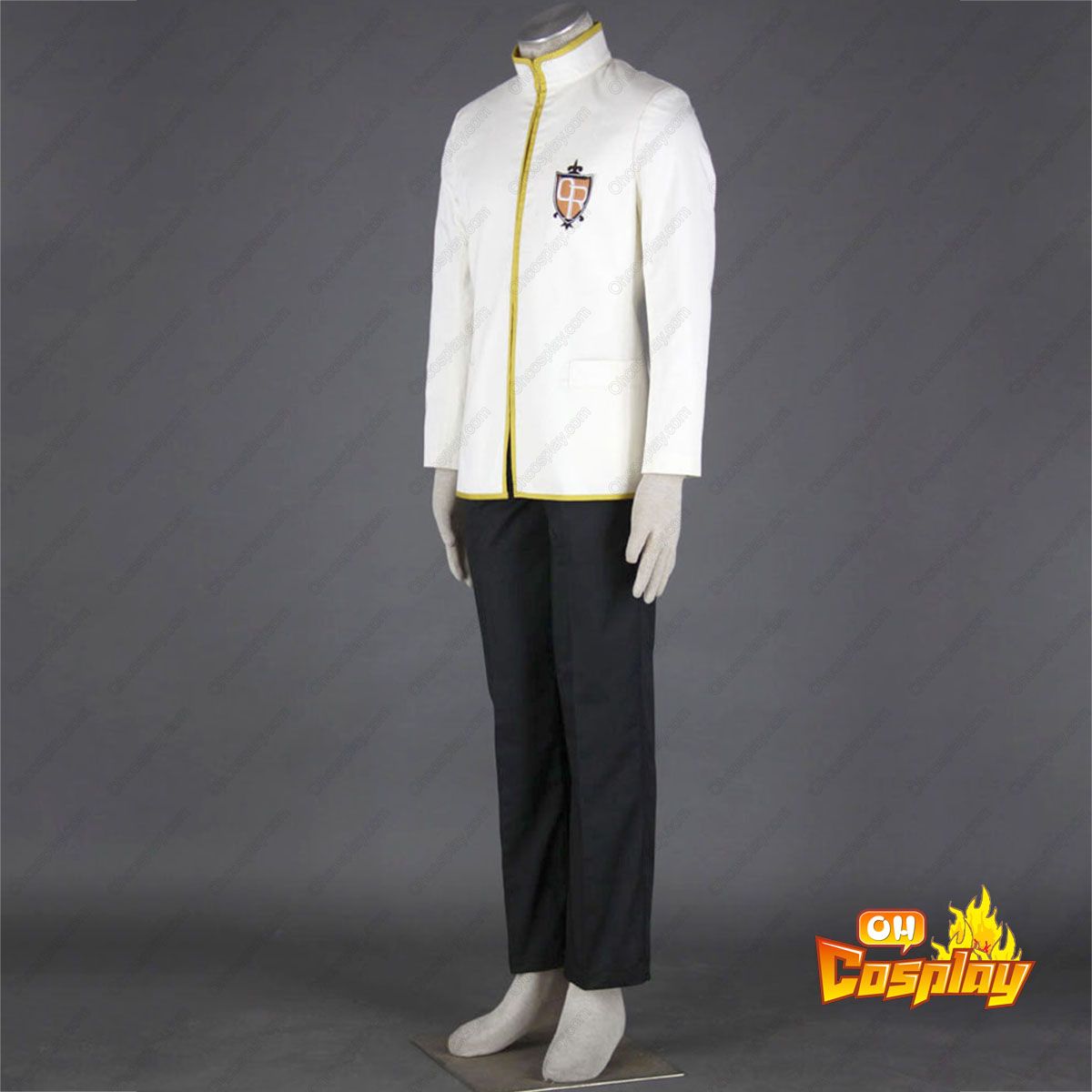 ouran high school host club male uniforms yellow cosplay costumes deluxe edition   cosplaymade com