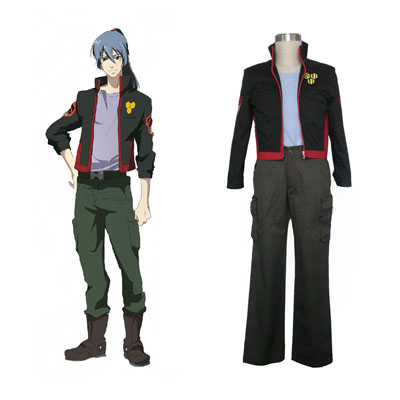 Macross F Ozma Lee 1ST SMS Team Cosplay Costumes Deluxe Edition