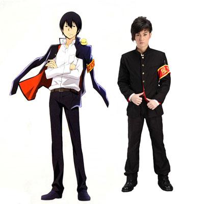 Hitman Reborn Kyoya Hibari 1 Cosplay Kostym