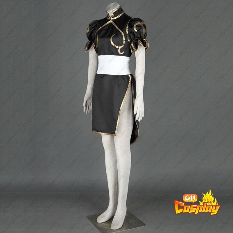 Street Fighter Chun-Li 2 Sort udklædning Fastelavn Kostumer