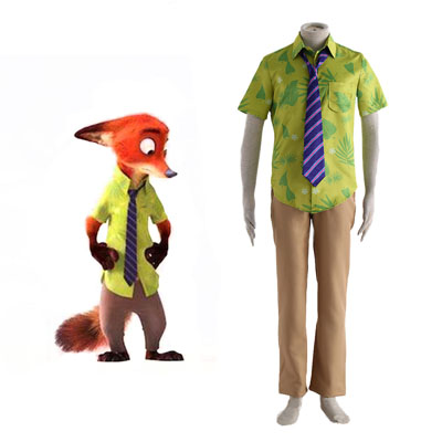 Zootopia Nick Normal Cosplay Kostym