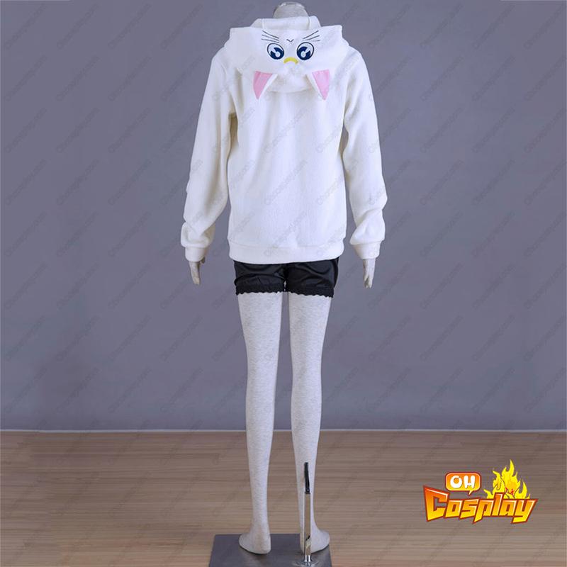 Sailor Moon Hvid Cat Artemis udklædning Fastelavn Kostumer