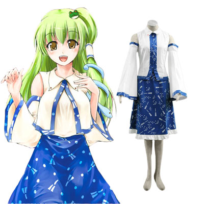 Touhou Project Kochiya Sanae Cosplay Costumes UK