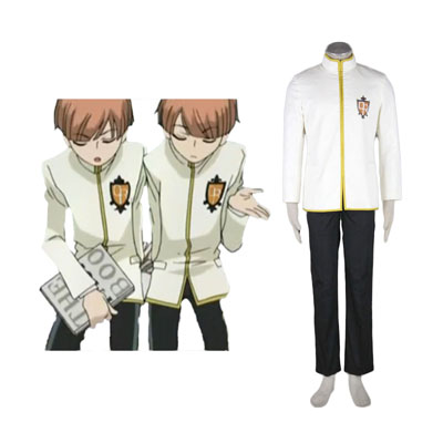 Ouran High School Host Club Male Työvaate Yellow Cosplay Puvut