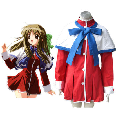 Kanon High Schooluniform Blauw Ribbon Cosplay Kostuums