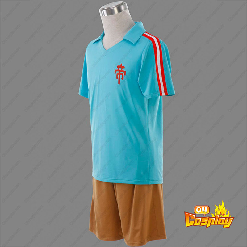 Inazuma Eleven Teikoku Sommar Fotbollströja 1 Cosplay Kostym