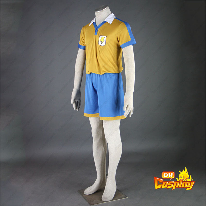 Inazuma Eleven Raimon Verão Soccer Jersey 2 Traje Cosplay