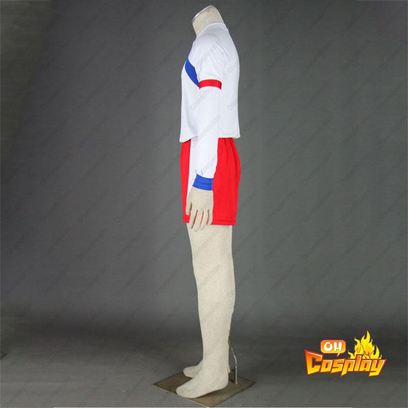 Inazuma Eleven British Team Soccer жарсе 2 Cosplay костюми