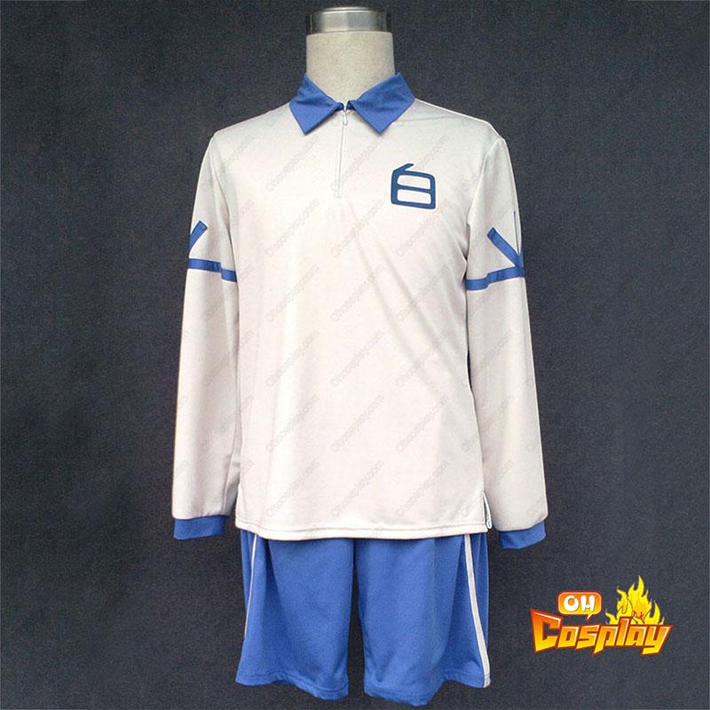 Inazuma Eleven Hakuren Sommar Fotbollströja 2 Cosplay Kostym