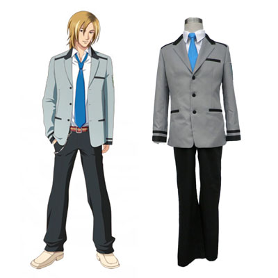 Tokimeki Memorial Flicka Side Male School Uniform Cosplay Kostym
