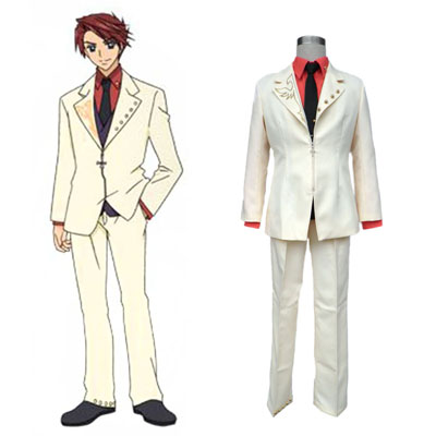 Umineko: When They Cry Battler Ushiromiya Cosplay Costumes Deluxe Edition