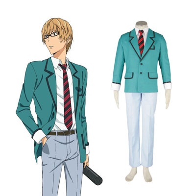 Bakuman Male School Uniform Cosplay Kostym