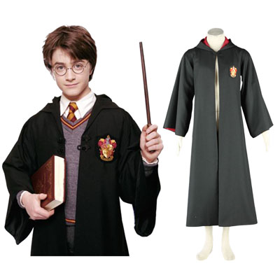 Harry Potter Gryffindor Uniform Cloak Cosplay Kostym