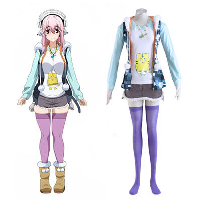 Soni-Ani:Super Sonico the Animation Super Sonico 1 Cosplay Kostymer